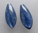 Kyanite 8x18mm Half Drilled Marquise Earring Beads Pair