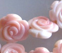 Pink Conch Shell Hand Carved 13mm Flower