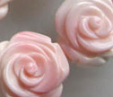 Pink Conch Shell Hand Carved Double Side 18mm Flower Beads