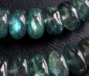 AA Translucent Emerald Green Labradorite 7-8mm Smooth Rondelle Beads