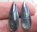 Rare Teal Silve Blue Kyanite 10x30 Faceted Drilled Earring Beads