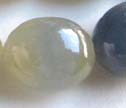 AA Natural Sapphire Large Smooth Puffy Oval Beads