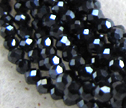 Silver Mystic Black Spinel Micro Faceted 2mm Rondelle Beads