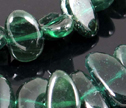 Rare Emerald Green Apatite 6x10mm Freeform Oval Beads