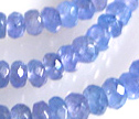 Tanzanite Faceted 4mm Rondelle Beads