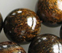 Bronzite 14mm Smooth Round Beads