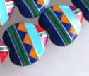 32 Zuni Pattern Inlaid 13mm Heart Beads
