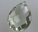 AA Green Amethyst Calibrated 12x15mm Briolette Beads 1pc