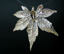 Silver Dipped Leaf Pendant