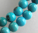 AA Natural Turquoise 4mm Round Beads