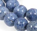 Natural Blue Coral 8mm Smooth Round Beads