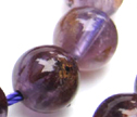 Cacoxenite Super 7 Amethyst 8mm Round Beads